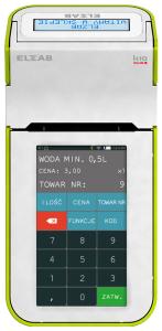 Mobilna kasa fiskalna ELZAB K10 online Bluetooth/ GPRS, Bluetooth/ WiFi, biało-zielona