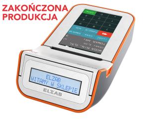 Mobilna kasa fiskalna ELZAB K10 online Bluetooth/ GPRS, Bluetooth/ WiFi, biało-pomarańczowa
