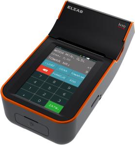 Mobilna kasa fiskalna ELZAB K10 online Bluetooth/ GPRS, Bluetooth/ WiFi, czarno-pomarańczowa