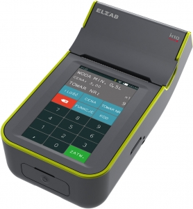 Mobilna kasa fiskalna ELZAB K10 online Bluetooth/ GPRS, Bluetooth/ WiFi, popielato-zielona