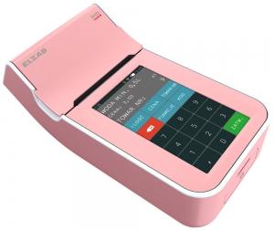 Różowa, mobilna kasa fiskalna ELZAB K1 online Bluetooth/ GPRS, Bluetooth/ WiFi