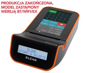Mobilna kasa fiskalna ELZAB K10 online BT/ WiFi, czarno-pomarańczowa