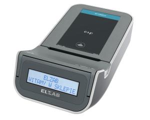 Drukarka fiskalna ELZAB D1 z elektroniczną kopią paragonów, popielato-jasnopopielata