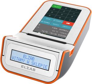 Mobilna kasa fiskalna ELZAB K1 online Bluetooth/ WiFi, Bluetooth/ GPRS, biało-pomarańczowa
