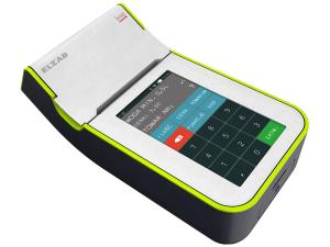 Mobilna kasa fiskalna ELZAB K1 online Bluetooth/ WiFi, Bluetooth/ GPRS, popielato-zielona