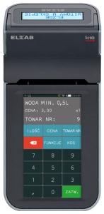 Mobilna kasa fiskalna ELZAB K1 online Bluetooth/ WiFi, Bluetooth/ GPRS, popielaty jasnopopielaty