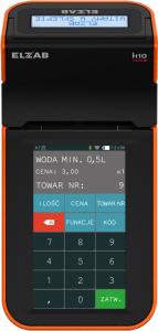 Mobilna kasa fiskalna ELZAB K1 online Bluetooth/ WiFi, Bluetooth/ GPRS, czarno-pomarańczowa