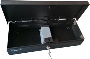 Szuflada FLIP TOP ELZ-FT460 jest otwierana do góry, instalowana na krawędzi blatu.