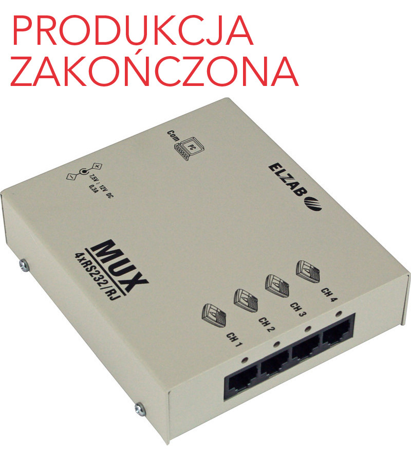 Multiplekser 4xRS232/RJ