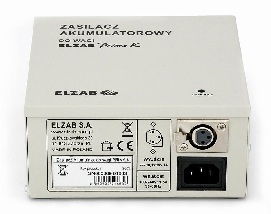 Zasilacz akumulatorowy do wagi ELZAB Prima K